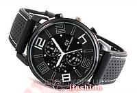 Мужские наручные часы GT Grand Touring большим циферблатом 4см (с белыми цифрами)