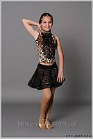 """Костюм для танцев """"Багира"""" (юбка №105 + блуза №106.)"""
