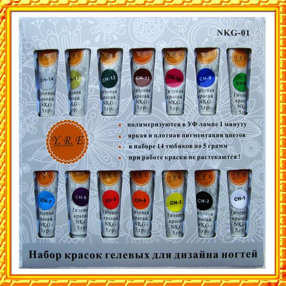 496Набор гелевых красок для дизайна ногтей