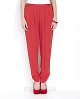 Летние женские штаны гаремы красного цвета из вискозной ткани. Модель Lulu Zaps.