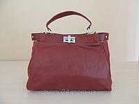 Модная женская сумка из натуральной кожи (Италия)