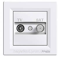 Розетка телевизионная TV-SAT белая ASFORA Schneider electric EPH3400121