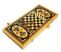 Шахматы, нарды 2в1 из натурального дерева Бамбук 50х25х4 см