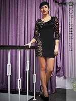 Черное гипюровое платье купить