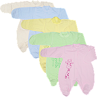 Человечек на кнопках, однотонный, с принтом, интерлок (100% хлопок), ТМ Алекс, р. 56 62,68,74,80-86, Украина