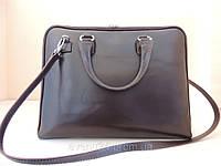 Сумка-портфель деловой женский кожаный (Италия) Коричневый
