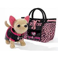 детская игрушка Плюшевая собачка Рок-звезда, с сумкой, SIMBA Chi Chi Love (Симба ЧиЧи Лов) 5894842