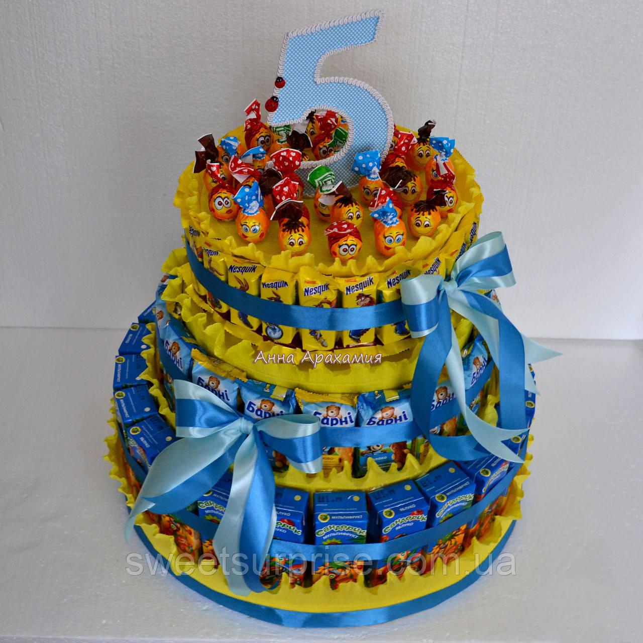 Торт из шоколадок и сока своими руками в детский сад 24