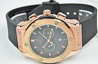 Мужские наручные часы HUBLOT Big Bang Gold Black календарь