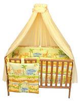 Балдахин вуаль на детскую кроватку (разные расцветки)