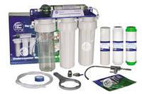 Фильтр дя воды 4-х ступенчатый. Aquafilter с мембраной. Кран НI-TEC ОРИГИНАЛ.