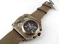 Часы мужские Alberto Kavalli в стиле Diesel steampunk, цвет хаки