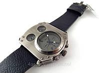 Часы мужские Alberto Kavalli в стиле Diesel steampunk, цвет сталь с черным ремешком