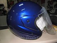 Шлем, мотошлем, защитный шлем полуторка, полулицевик с стеклом
