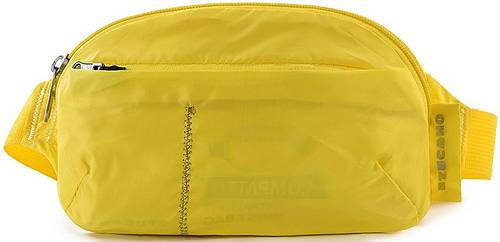 Яркая сумка-трансформер на пояс, раскладная Tucano COMPATTO XL WAISTBAG PACKABLE YELLOW (BPCOWB-Y) желтый