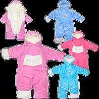 Детский зимний ТЕРМОкомбинезон-трансформер подкладка флис, утеплитель холлофайбер, на рост 68-86 см, р. 80
