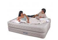 Двуспальная надувная кровать 66962 Queen Supreme Air-Flow Bed Intex 66962 (152х203х51 см. )
