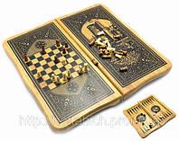 Нарды с шахматами бамбуковые код 23314