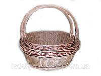 Плетеные корзины из лозы в наборе, фото 1