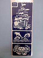 Трафарет для нанесения рисунка на торт маленький №255 Море (код 02592)