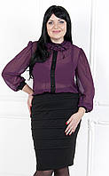 Элегантное деловое платье с имитацией костюма №149 л