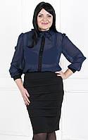 Элегантное деловое платье  с имитацией костюма № 149 с
