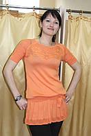 Оранжевое платье-туника размер универсальный 42-44-46-48