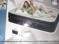 Intex 67736 Надувная двуспальная кровать 3 слоя (203х152х48см)