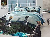 Комплект постельного белья First choice  3D сатин CHESS Двуспальный Евро Архитектурные сооружения