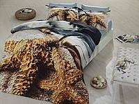 Комплект постельного белья First choice  3D сатин TWEET Двуспальный Евро Абстракция