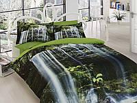 Комплект постельного белья First choice  3D сатин JUANA Двуспальный Евро Растения, цветы