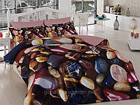 Комплект постельного белья First choice  3D сатин ESMERALDA Двуспальный Евро Абстракция