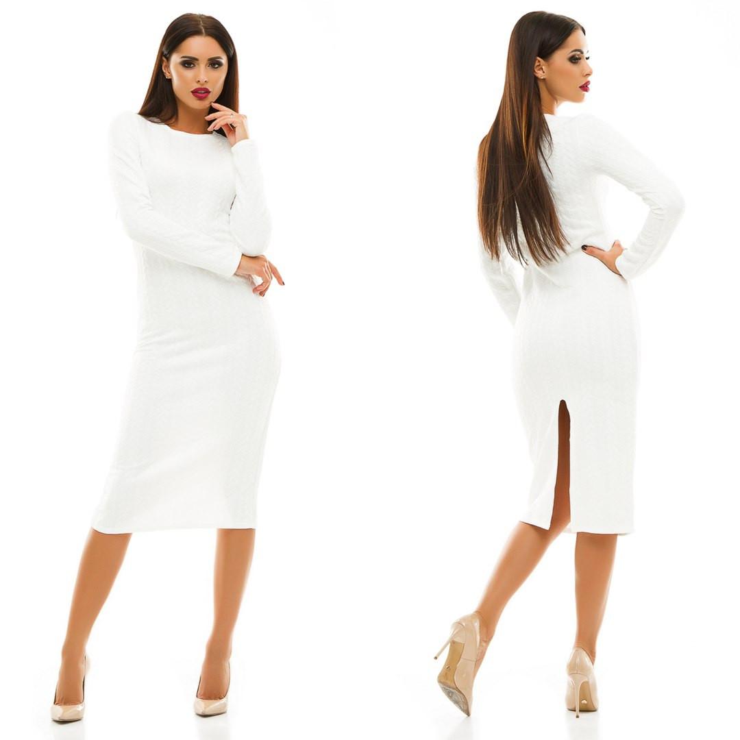 Фото белое платье с рукавом