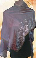Шарф женский шёлковый Хамелеон