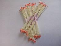 Тычинки для цветов оранжевые круглые маленькие 25шт.(код 00591)