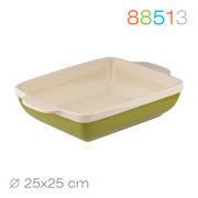Granchio Квадратная форма для выпечки/запекания Green Ceramica 25см 88513