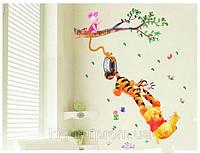 Разноцветные наклейки на стену Винни Пух декор для детей