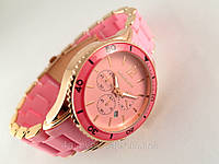 Часы Michael Kors розовый браслет из софт тач пластика