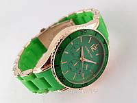 Часы Michael Kors зеленый браслет из софт тач пластика