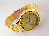 Часы Michael Kors желтый браслет из софт тач пластика
