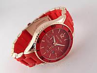 Часы Michael Kors красный браслет из софт тач пластика