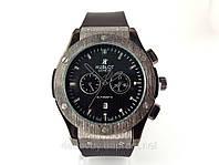 Мужские часы HUBLOT - Big Bang каучуковый черный ремешок, цвет черный, кварцевый механизм