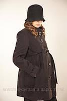 Пальто для беременных весна-осень, черное