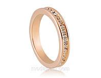 Кольцо «Комплимент» с кристаллами Сваровски, купить