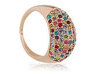 Кольцо «Богатство оттенков», кристаллы Сваровски, напыление золотом, купить