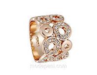 Кольцо «Властительница колец», покрытие золотом, кристаллы, купить