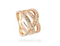 Кольцо «Переплетение судеб», покрытие золотом, бижутерный сплав, купить