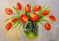 «Тюльпаны» картина маслом