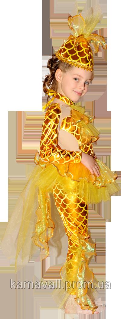 Новогодние костюмы для девочек своими руками золотая рыбка
