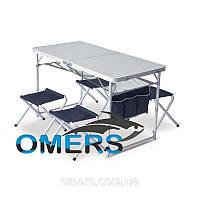 Набор туристической складной мебели стол с сеткой и 4 стула Verus